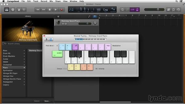 Understanding MIDI and Musical Typing: GarageBand Essential Training