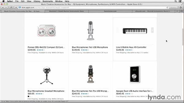Connecting a keyboard controller: GarageBand Essential Training