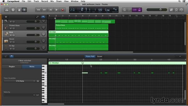 Editing software tracks: GarageBand Essential Training