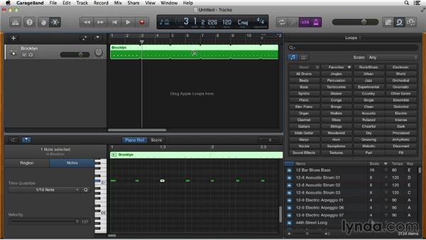 Creating a click track: GarageBand Essential Training