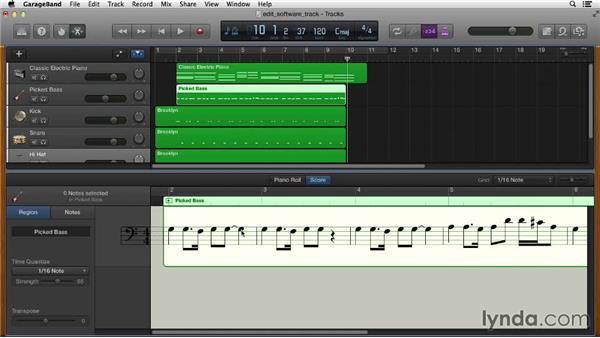 Editing and printing musical notation: GarageBand Essential Training