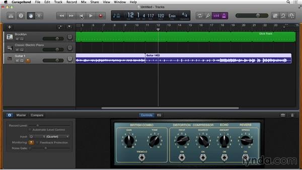 Recording a Real Instrument track: GarageBand Essential Training