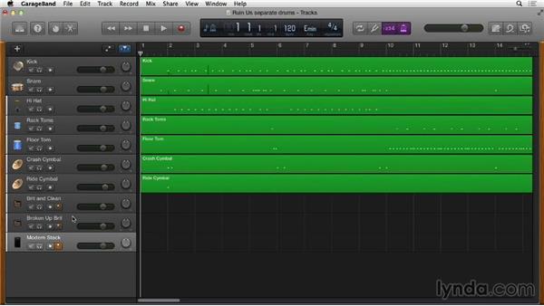 Enabling simultaneous multitrack recording: GarageBand Essential Training