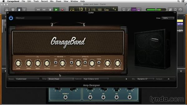 Customizing the guitar sound: GarageBand Essential Training