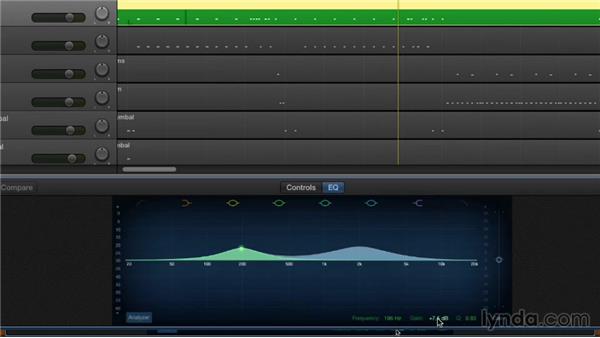 Equalizing tracks: GarageBand Essential Training