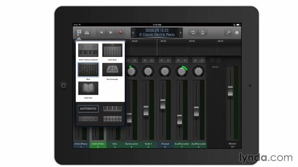 Controlling GarageBand remotely from an iPad: GarageBand Essential Training