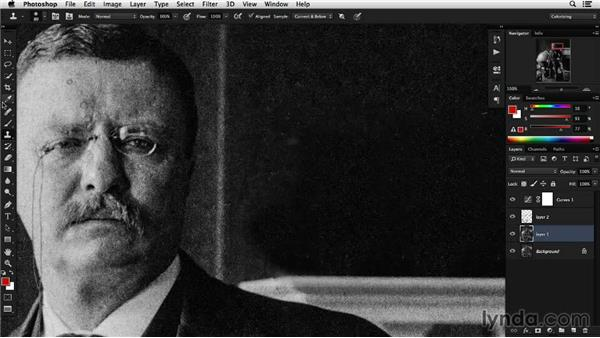 Removing distracting objects: Colorizing Black-and-White Photographs with Photoshop