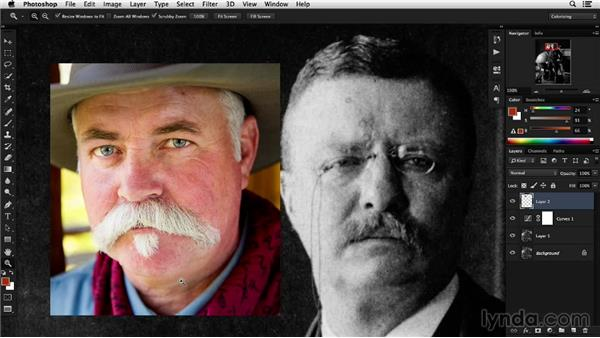 Determining the color scheme: Colorizing Black-and-White Photographs with Photoshop