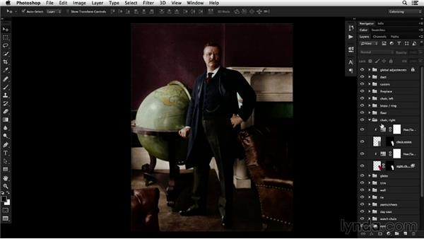 Utilizing layers to manage color: Colorizing Black-and-White Photographs with Photoshop