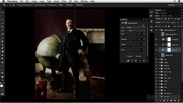 Applying fine-tuned colors: Colorizing Black-and-White Photographs with Photoshop