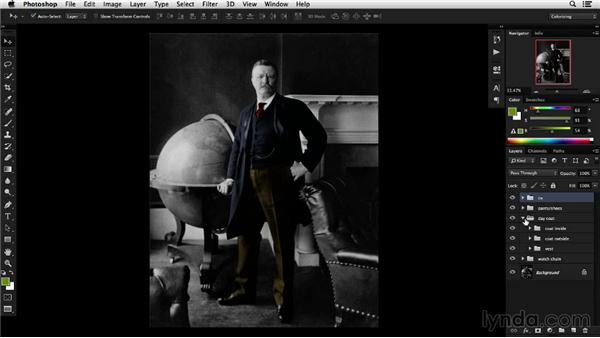 Tweaking color with the Hue/Saturation adjustment layer: Colorizing Black-and-White Photographs with Photoshop