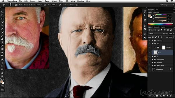 Modulating color for realism: Colorizing Black-and-White Photographs with Photoshop