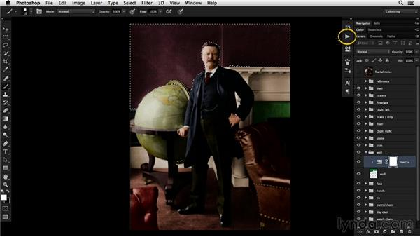 Using noise to add complexity: Colorizing Black-and-White Photographs with Photoshop