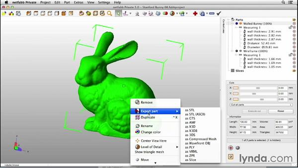 Exporting your file: Up and Running with 3D Printing
