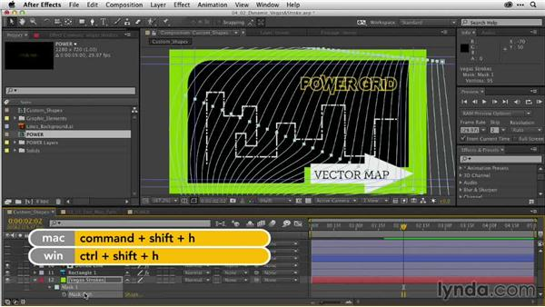 Dynamic transitions with the Vegas and Stroke effects: After Effects Guru: Working with Vectors