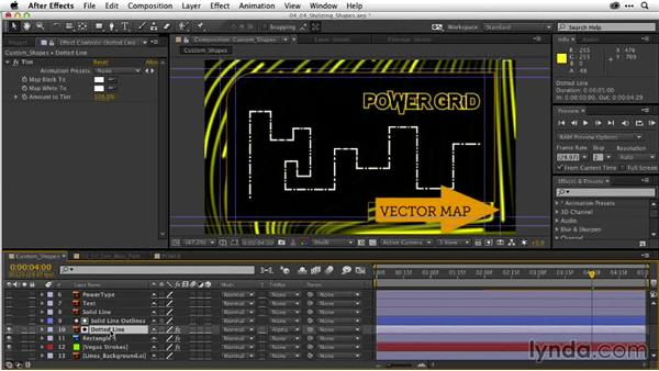 Stylizing animated shape layers: After Effects Guru: Working with Vectors