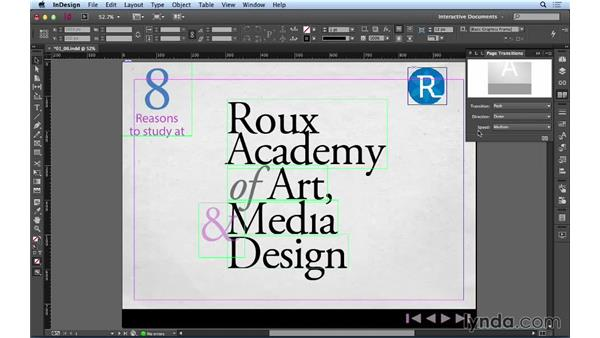 Setting page transitions: Creating a PDF Presentation