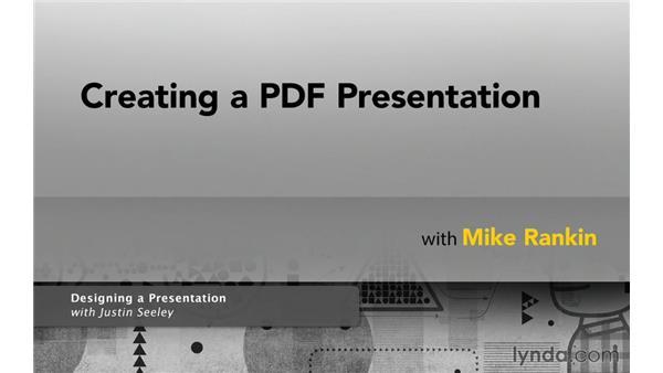 Next steps: Creating a PDF Presentation