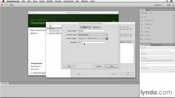 Establishing the Dreamweaver CC site: Dreamweaver CC and WordPress 3.8: Core Concepts