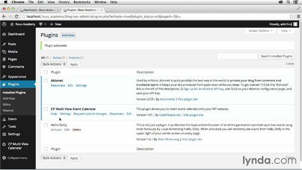 Understanding WordPress plugins: Dreamweaver CC and WordPress 3.8: Core Concepts