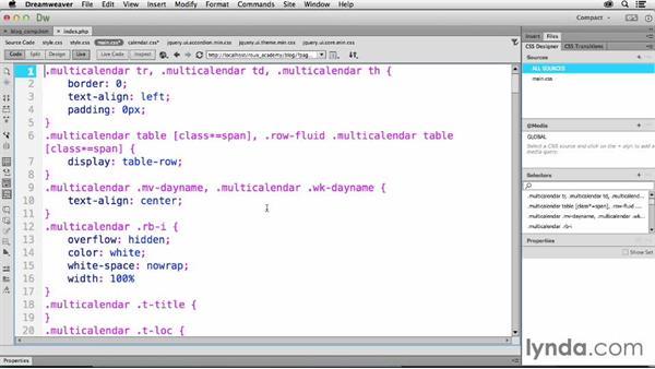 Styling plugin output: Dreamweaver CC and WordPress 3.8: Core Concepts