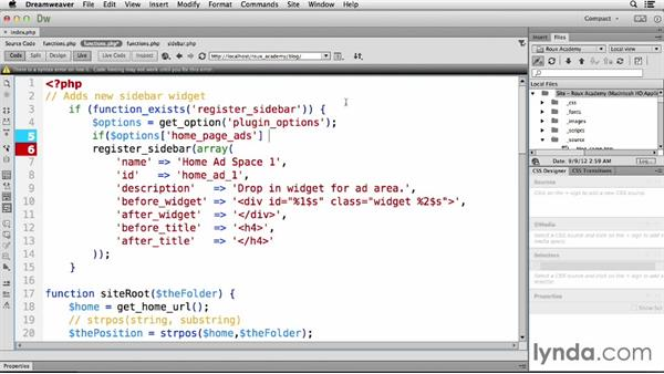 Including administration interactivity: Dreamweaver CC and WordPress 3.8: Core Concepts