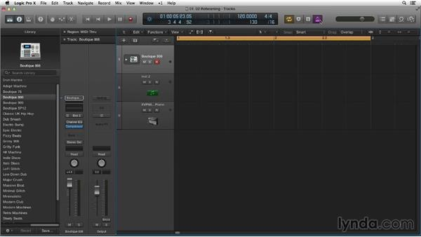Rehearsing the beat, cycling in Logic, and recording the kick and snare: Making Beats in Logic Pro X