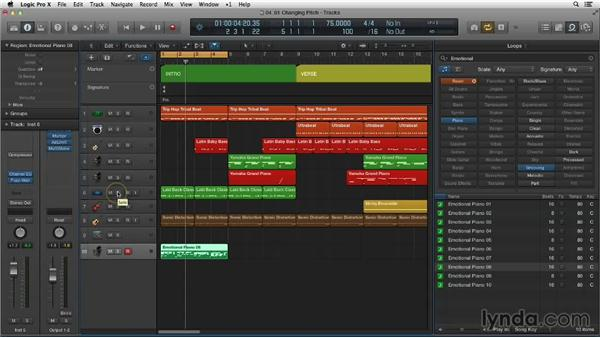 Changing the pitch of Apple Loops: Making Beats in Logic Pro X
