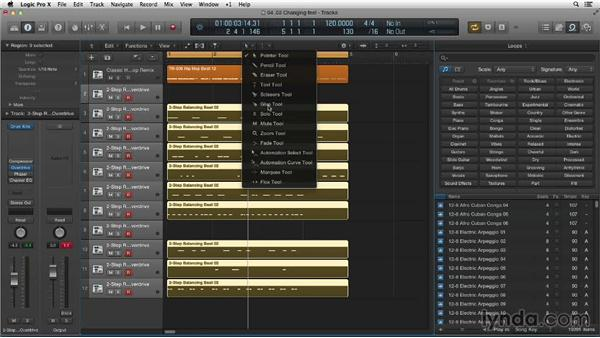 Changing the feel of Apple Loops: Making Beats in Logic Pro X