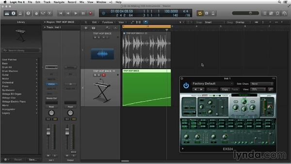 Building a useful EXS instrument from a drum loop: Making Beats in Logic Pro X