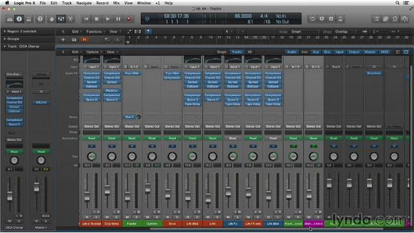 Flexing to change project tempo: Making Beats in Logic Pro X