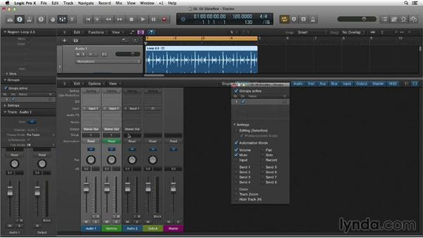 Creating gate effects with the Slicing Flex mode: Making Beats in Logic Pro X
