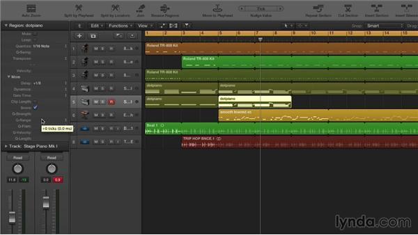 Advanced quantizing: Making Beats in Logic Pro X