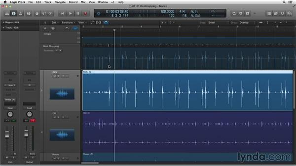 Beat mapping a live performance: Making Beats in Logic Pro X