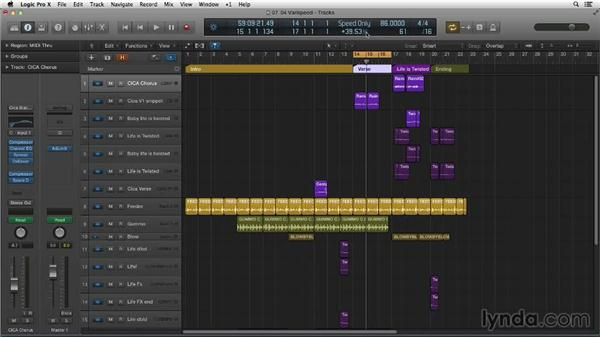 Experimenting with your tempo using Varispeed: Making Beats in Logic Pro X
