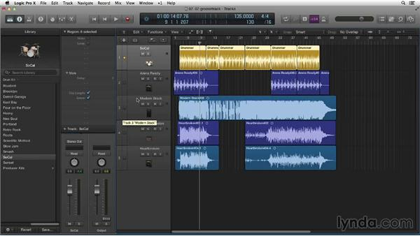 Tightening the feel with the groove track: Making Beats in Logic Pro X