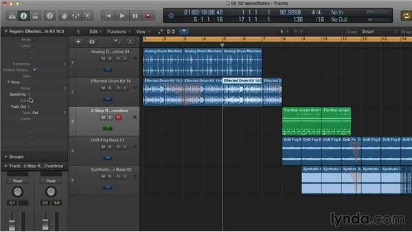 Creating turntable- and tape-machine-style speed fades: Making Beats in Logic Pro X