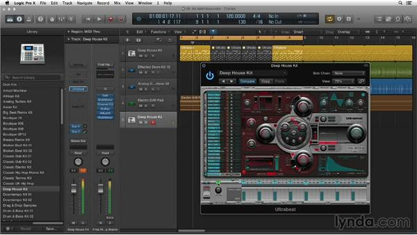 Sidechaining the compressor with your kick: Making Beats in Logic Pro X