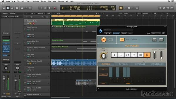 Going deeper into Arpeggiator: Making Beats in Logic Pro X