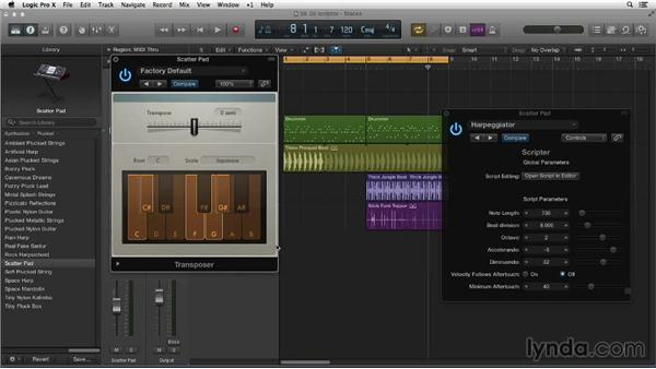 Creating riffs with Scripter and Note Repeater: Making Beats in Logic Pro X