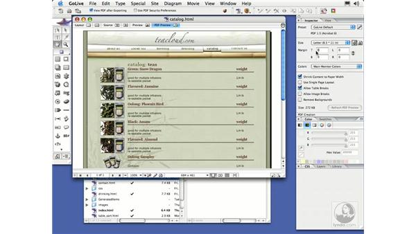 Linking to PDFs: GoLive CS2 Essential Training
