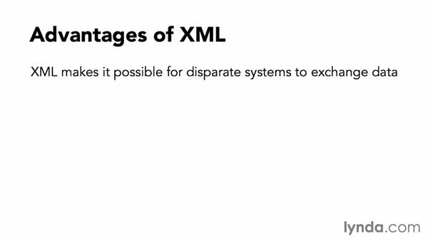Advantages and drawbacks of XML: XML Essential Training
