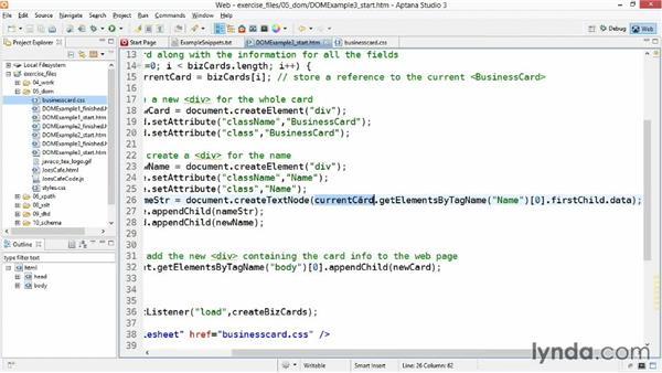 Creating new document content: XML Essential Training