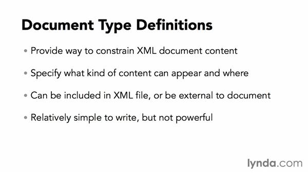 What is a DTD?: XML Essential Training