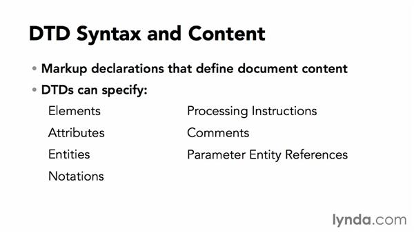 DTD syntax: XML Essential Training