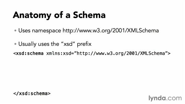 Anatomy of a schema: XML Essential Training