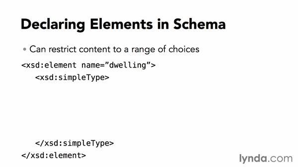 Declaring elements: XML Essential Training