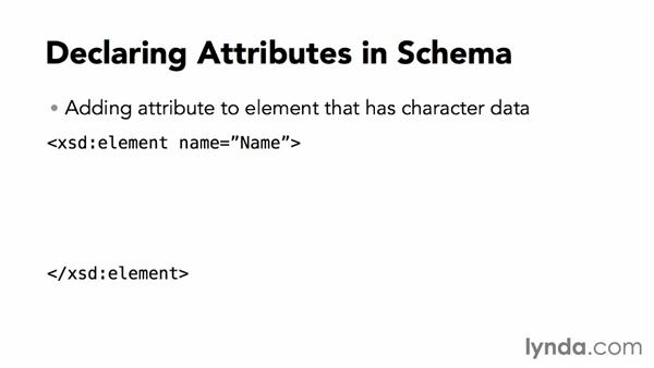 Declaring attributes: XML Essential Training
