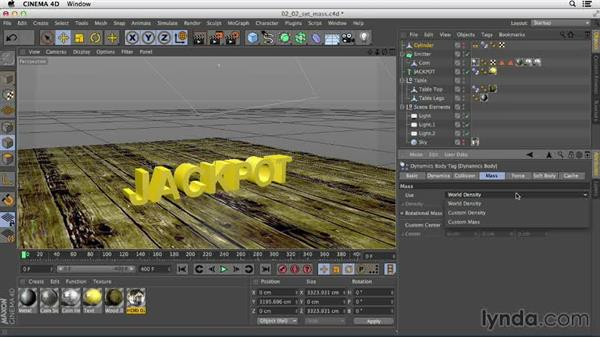 Understanding mass and density: Mograph Techniques: Dynamic Falling Objects in CINEMA 4D