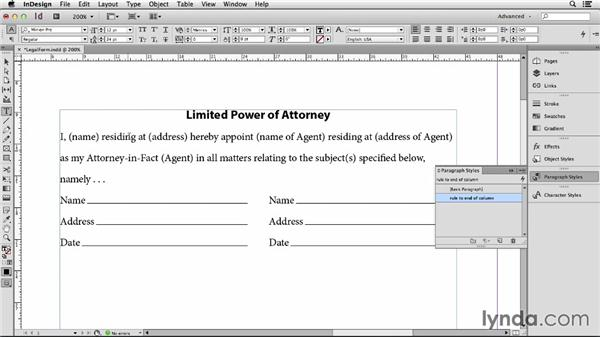 130 Make a fill in the blank label for contracts and forms: InDesign Secrets